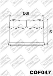 COF047-Filtro-De-Aceite-CHAMPION-Kymco-ATV-550-MXU-es-decir-550-2011-gt-2012