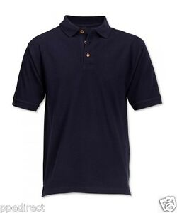 Workwear-Polo-Shirt-100-cotton-High-Quality-220-GSM-Navy-Blue-Brand-New