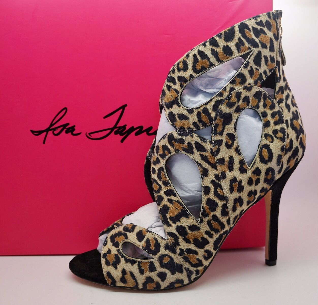 ISA Schuhes TAPIA Leopard Animal Print Cut Out CAMERON Heels Schuhes ISA Größe 38 US 8 5e3bb9
