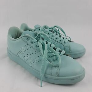 Details about Adidas Womens Neo 7.5 Cloudfoam Light Baby Blue Leather Shoes FC0141