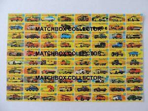 Matchbox-Lesney-Poster-repro-Type-G-Series-models