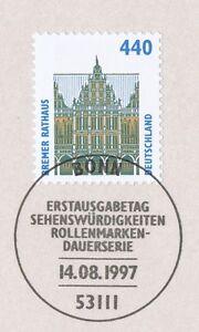 Copieux Rfa 1997: Bremer Mairie! Swk Nº 1937 Avec Bonner Ersttags-cachet Spécial! 1a!-rstempel! 1a!fr-fr Afficher Le Titre D'origine