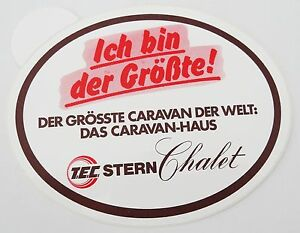 Promotional Stickers Tec Stern Chalet Caravan-Haus Camper Motorhome T. T. E. C.