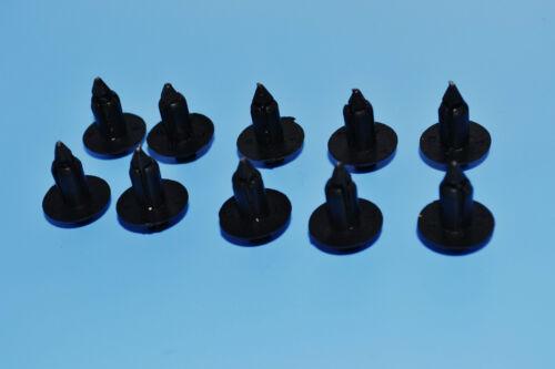 10 x Honda CR-V rivet en plastique Noir Panneau Garniture Corps type de fixation clips