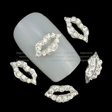 10pcs 3D Nail Art Decorations Crystal Rhinestones Charms Glitter Metallic Lips