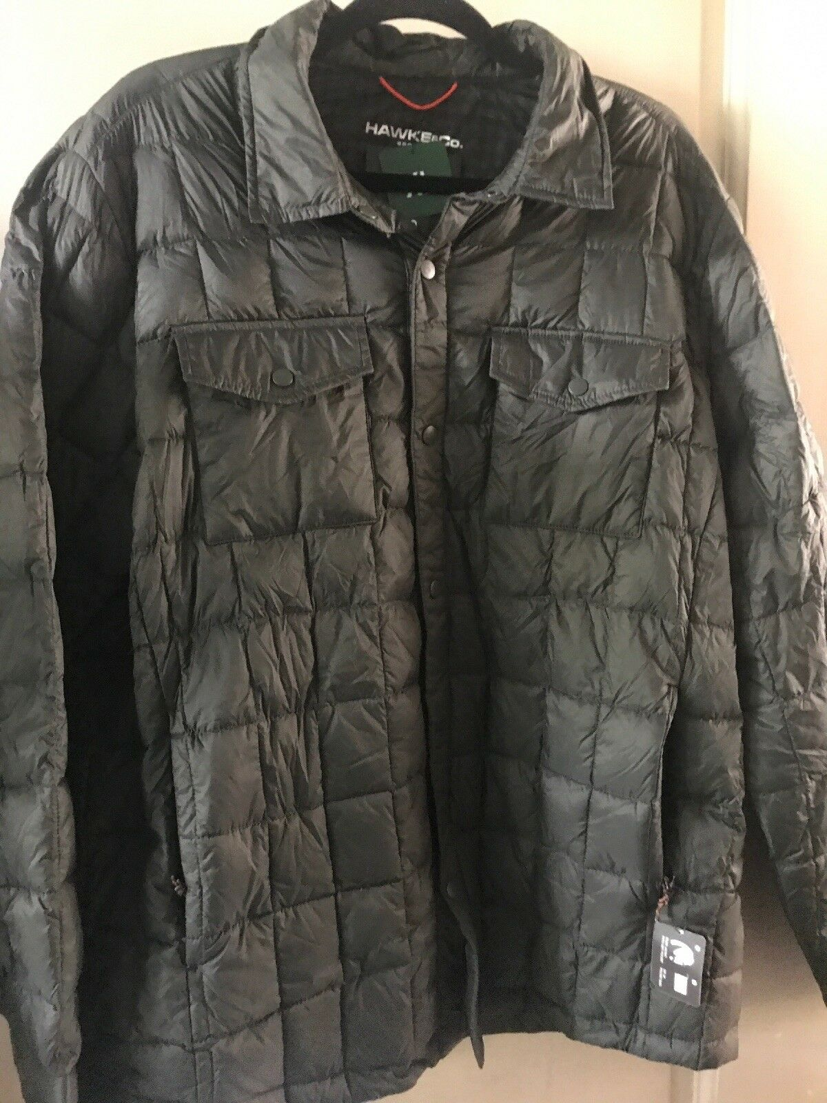 Hawke Co Outfitter Men Grün Puffer Jacket XL Down Packable Lightweight  99 New