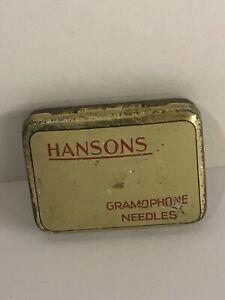 Vintage Hanson Gramophone Needle Tin