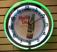 18 Mountain Dew Ya-hooo Sign Double Neon Clock It'll Tickle Yore Innards