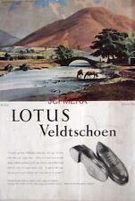 1952 LOTUS Veldtschoen Shoes Advert 'WASDALE' - Rowland Hilder Art Print AD