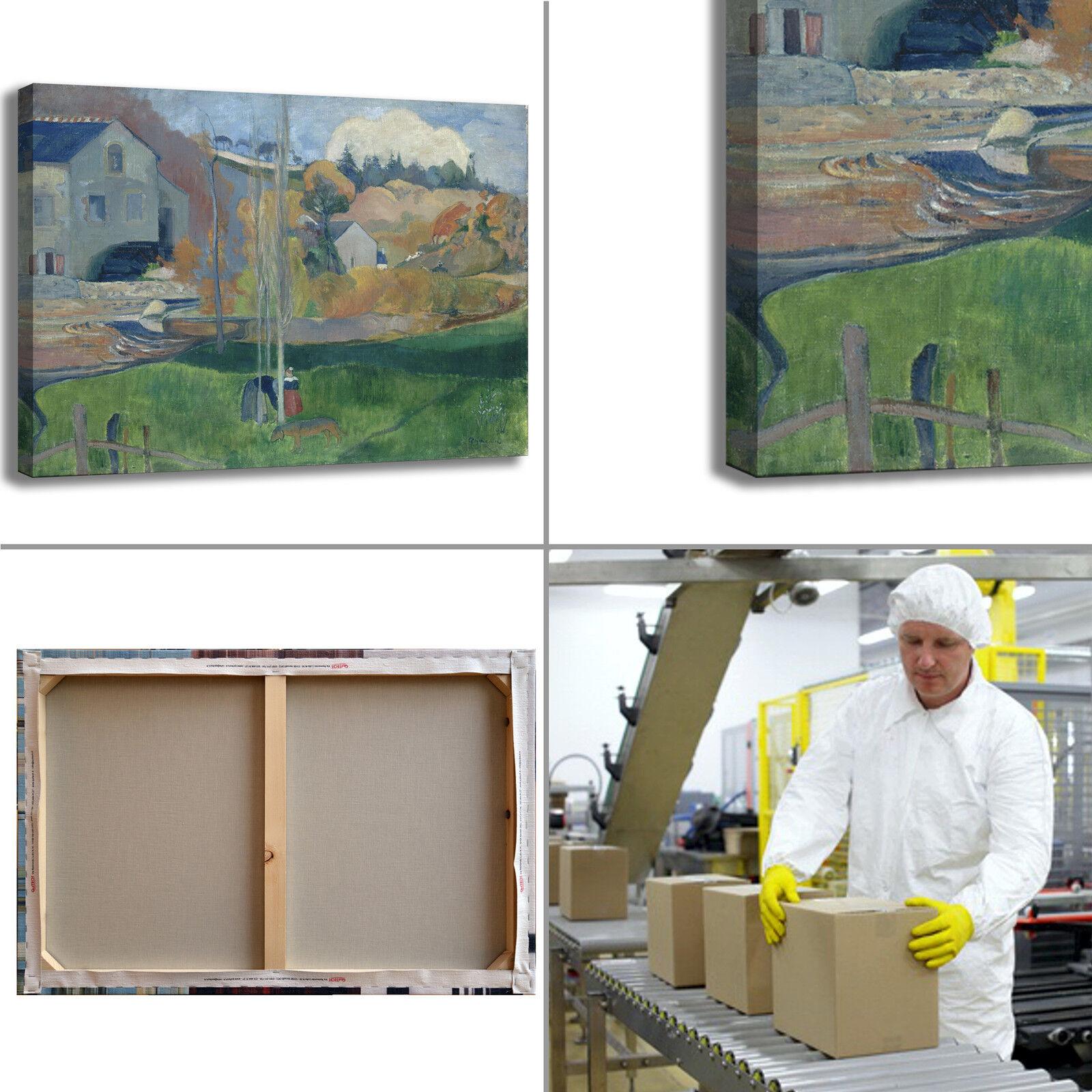 Gauguin mulino di di di David design quadro stampa tela dipinto telaio arrossoo casa 766833