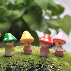 LC_ Superbe CHAMPIGNON poupée Micro Paysage Bonsaï Maison de décor ...