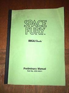 Sega Space Fury Rare Manual Free Usa Shipping Media Mail Manuals & Guides To Ensure Smooth Transmission Arcade Gaming