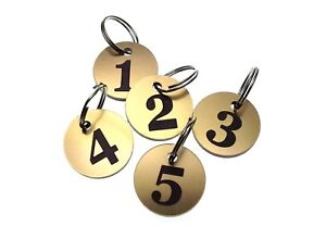 e44f66515 Pack of 5 Key Fobs, key Rings, key Tags - Numbered Numbers 1 to 5 ...