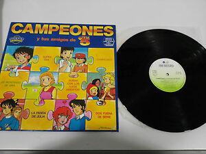 "Champions Oliver Benji TV Serie Bso LP 12 "" vinyl Spanisch Ersten Press 1990"