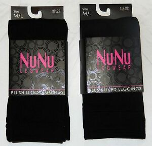 2-Pair-Plush-Black-Fleece-Lined-Leggings