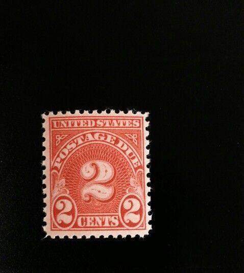 1931 2c Postage Due, Carmine Scott J81 Mint F/VF NH