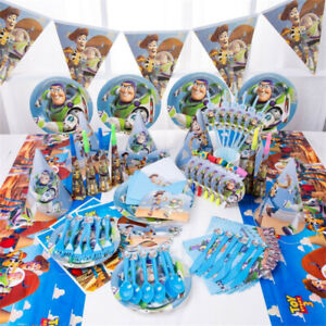 Disney-Toy-Story-Buzz-Light-Year-Fete-D-039-anniversaire-Fournitures-Vaisselle-Decorations