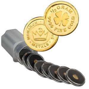 1-2-Gram-9999-Fine-Gold-Round-in-a-Capsule-Four-Leaf-Clover-Design-BU