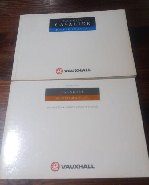 1990 Vauxhall Cavalier Mk3 Manuale Del Proprietario Driver Informazioni Pack Manuali