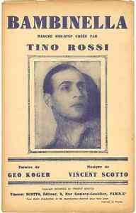 BAMBINELLA-BY-TINO-ROSSI-1939-SHEET-MUSIC-PARTITION-FREE-SHIP