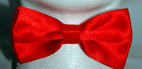 High Quality Red PreTied Mens Bow Tie Pre Tied Adjustable Dickie Wedding Prom