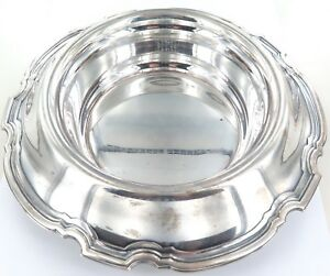 c1921-TIFFANY-amp-Co-STERLING-SILVER-HUGE-FLORAL-CENTRE-PIECE-BOWL-1030-g