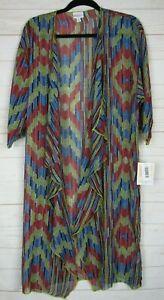 Lularoe-Donna-SHIRLEY-Multi-Color-Sheer-Kimono-Taglia-M-Nuovo-con-etichette