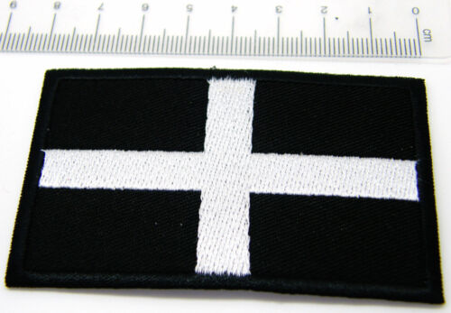 CORNWALL ST PIRAN FLAG PATCH BADGE SEW OR IRON ON 3 SIZES