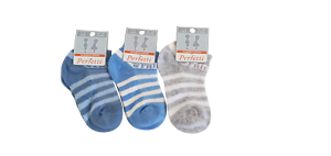 Baby Boys Toddlers Kids TRAINER Socks 3 Pack STRIPED Seamless Cotton 1-9 Years