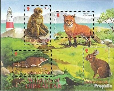 Faithful Gibraltar Block51 Mint Never Hinged Mnh 2002 Animals 100% Original Topical Stamps