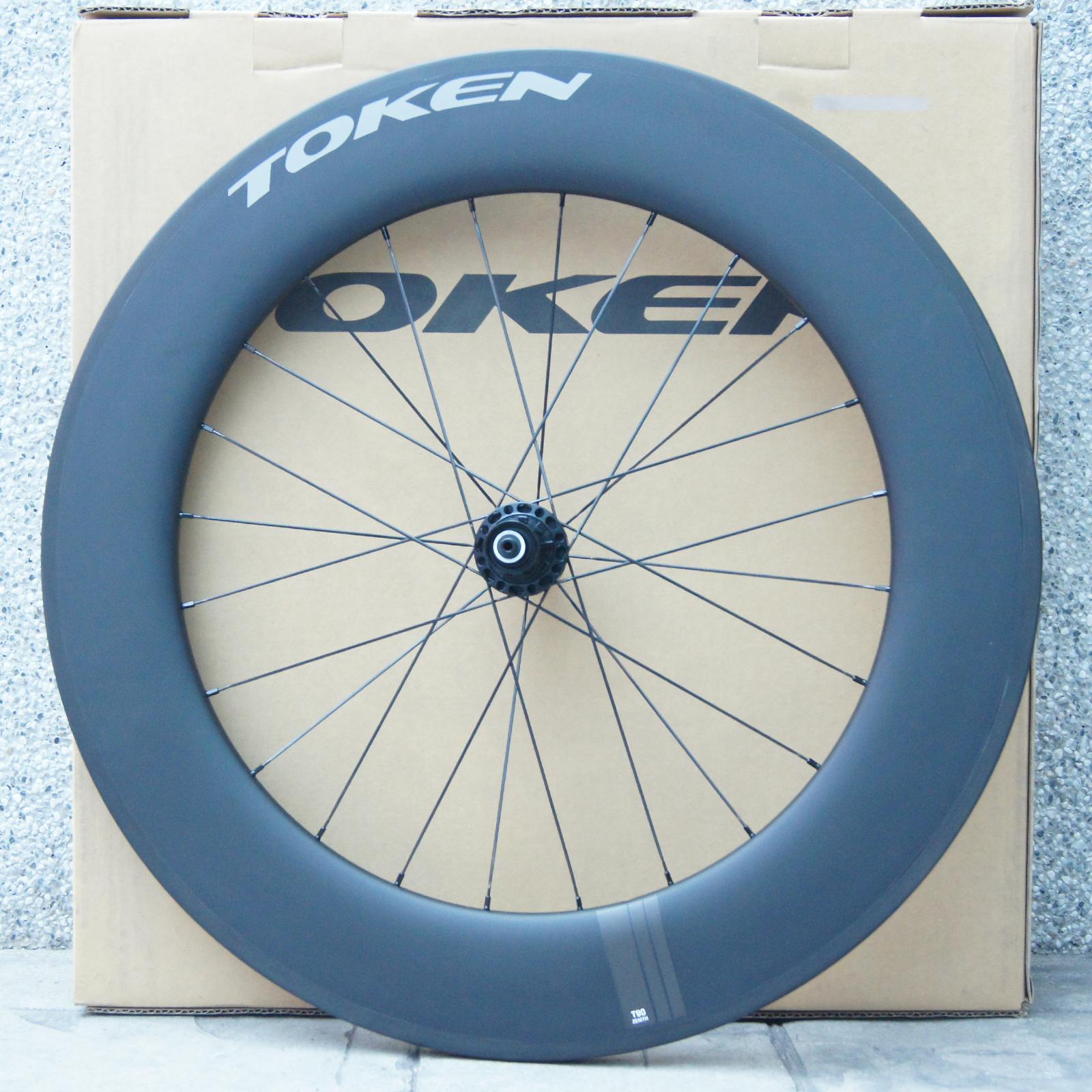 TOKEN T90 Tubular Carbon Wheel (Rear), Weight  896g
