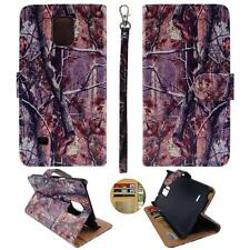 For Samsung Galaxy Note 4 N9100 Am Wallet Camo Pinetree Split Leather Case