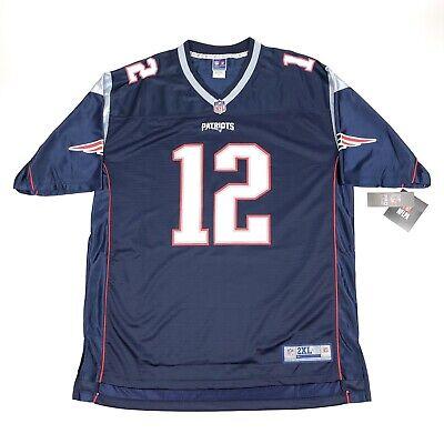 Tom Brady New England Patriots 2XL XXL Tall Pro Line Authentic Replica Jersey | eBay