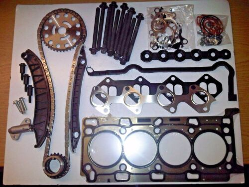 RENAULT GRAND SCENIC 2.0 DCi DIESEL TIMING CHAIN KIT HEAD GASKET SET /& BOLTS