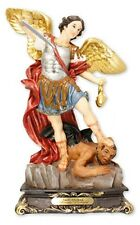 SAINT MICHAEL THE ARCHANGEL 130mm STATUE - CANDLES & PICTURES ALSO LISTED 950