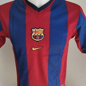 Détails sur superbe Maillot football Barcelone Football barça taille 1213 ans rétro