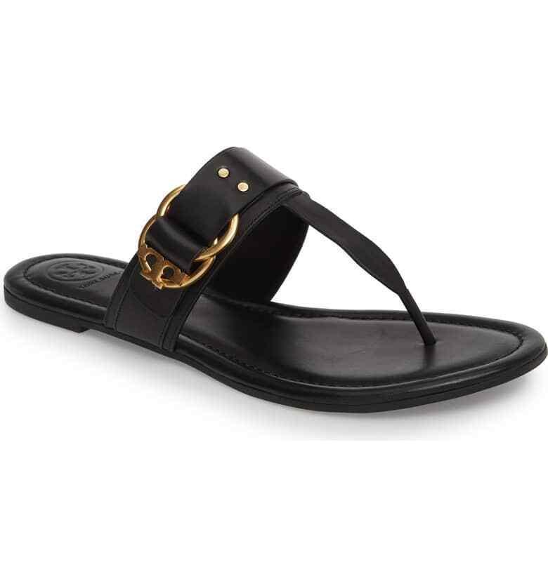 TORY BURCH Marsden Flat Thong Sandal Sz 10.5