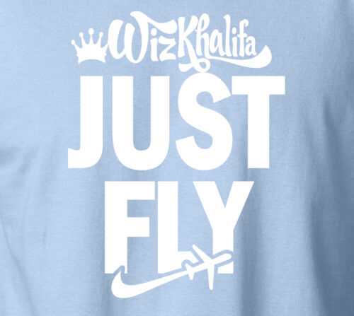 WIZ KHALIFA JUST FLY T-Shirt Taylor Gang MMG Last Kings 420 100/% Ringspun Tee