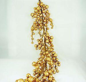 PACK OF 6, 4' Rich GOLD glitter sparkle holiday garland decor centerpiece