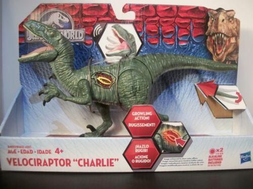 "New in Box Jurassic World Action Figure-Velociraptor /""Charlie/"" /& Delta/"" Ankylosaure"