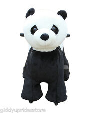 Electric Rechargeable Ride-on Plush Animal Rides - MINI PANDA by Giddy Up Rides