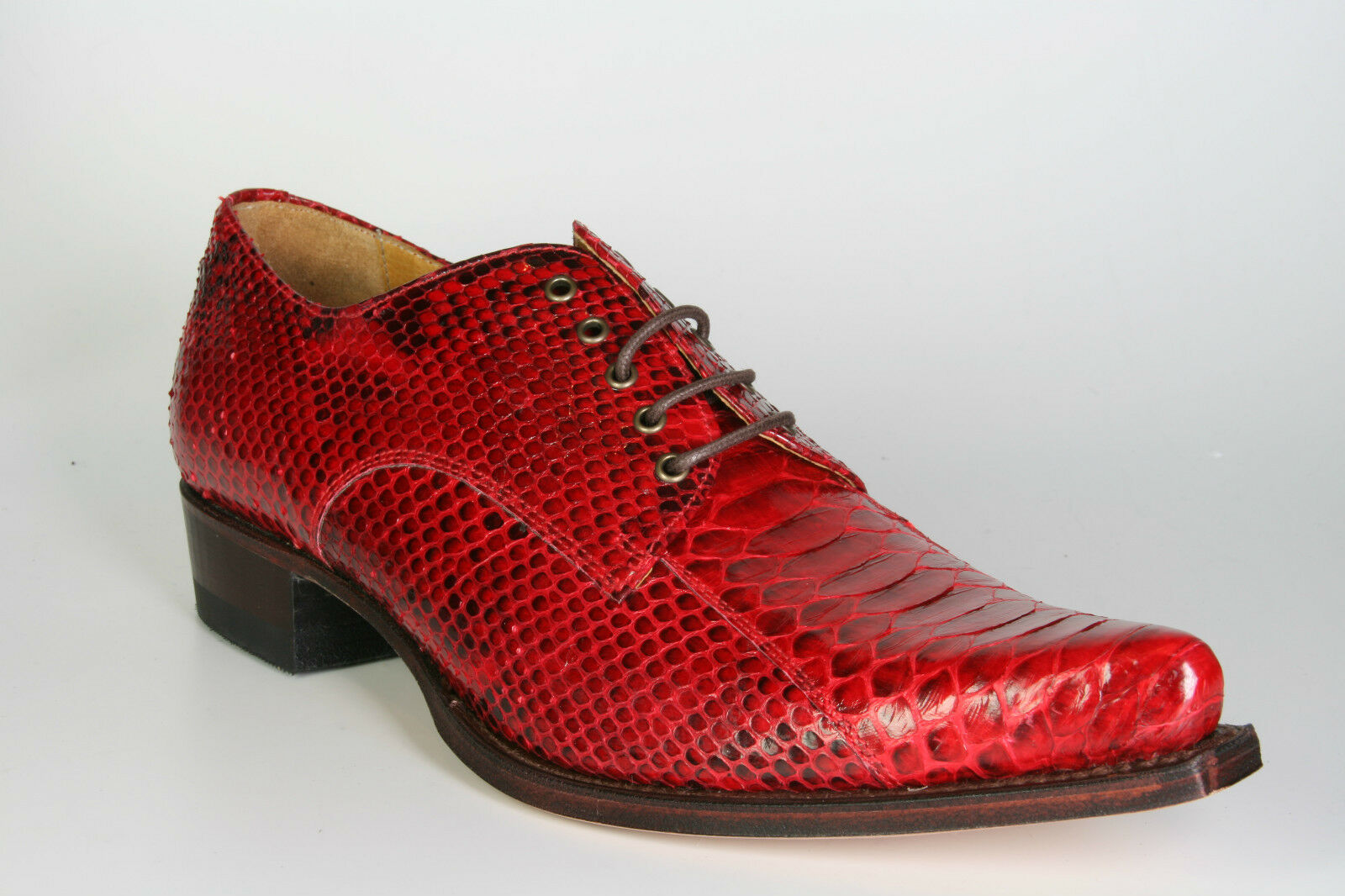 530 sendra Chaussure Lacée python Barr. rouge rouge