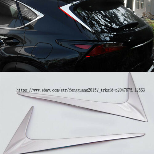 For Lexus NX300h NX200t 2015-2016 Stainless Rear Window Triangle Decoration Trim