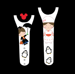 For Disney Magic Band 2 Decal Sticker Skin Mary Poppins Inspired