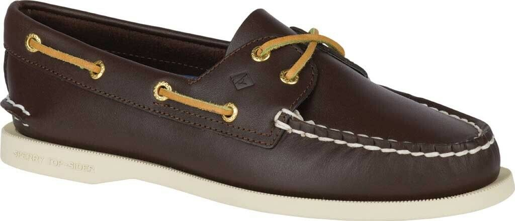 Sperry Top-Sider Authentic Original Boat Shoe (Women's) in Brown - NEW