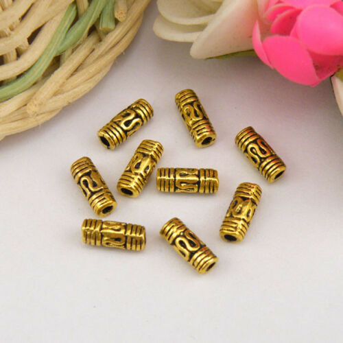 40Pcs Tibetan Silver,Gold,Bronze Spacer Tube Beads Jewelry Making DIY M1145
