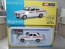 Corgi Vanguards VA09519 Ford Escort Mk1 Mexico Diamond White  60th Anniversary