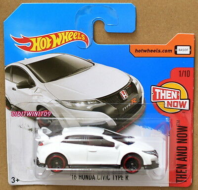 2017 Hot Wheels #330 Then And Now 2//10 /'90 HONDA CIVIC EF White w//Black Pr5 Sp