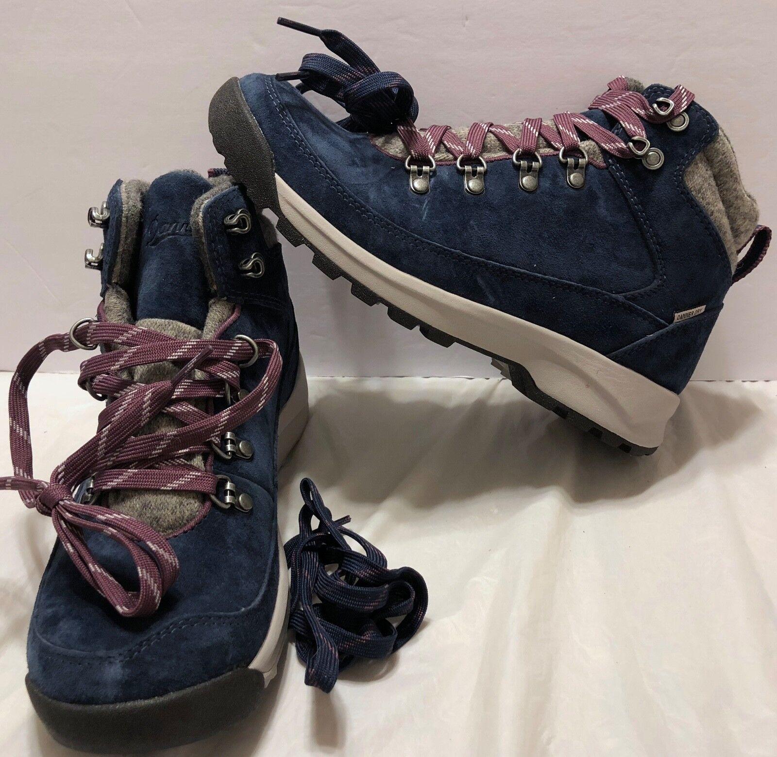 NWOB Danner Adriker Hiker Wool Navy Purple Stiefel Sz Sz Sz 7 Primaloft Danner Dry Hike c87ea1