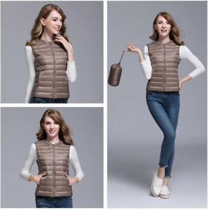 Women-Ultra-Light-90-White-Duck-Down-Vest-Women-039-s-Duck-Down-Vest-Jacket